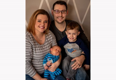 Katlin Johnson, a nursing home administrator in De Smet, will work as a volunteer and play a role in managing content for the new Kingsbury Journal. Johnson is shown with her husband, Keith Johnson, and sons Odin, at left, and Theo. Photo: Courtesy Katlin Johnson