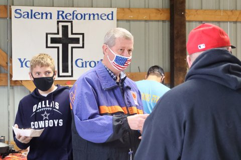 Those working at the Salem Reformed Church food stand at the 2020 Power Show in Menno wore masks.